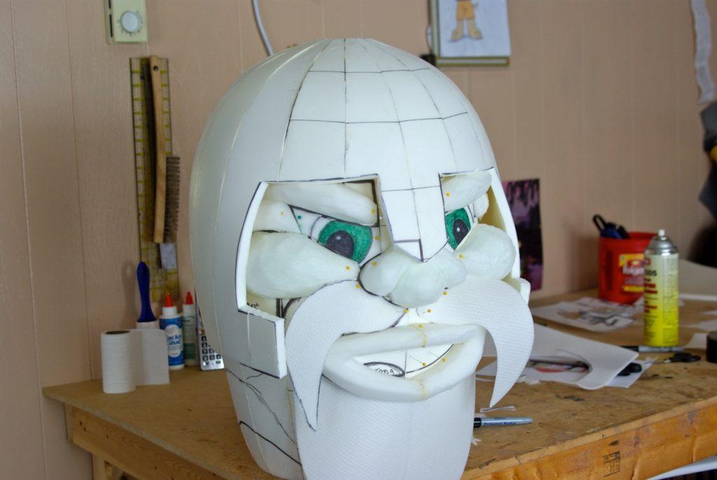 clean mascot head